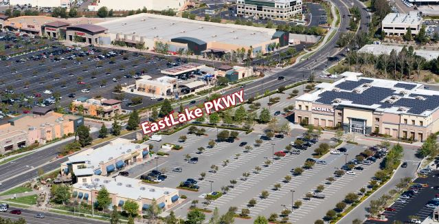 Retail Project: aerial view EastLake Village Center | citivestcommercial.com