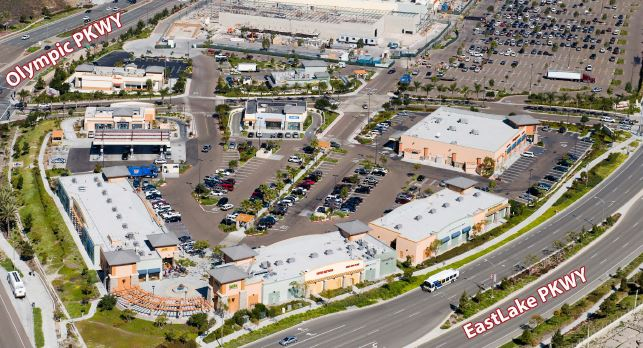 Retail Project: aerial view f Eastlake Terraces, Chula Vista, CA | citivestcommercial.com