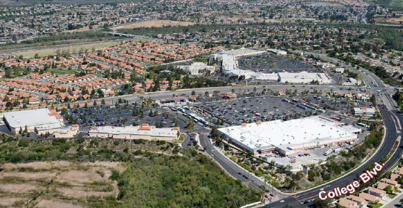 Retail Project: aerial view of Town Center North, Oceanside, CA - citivestcommercial.com